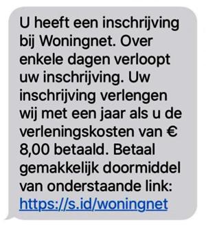 voorbeeld sms